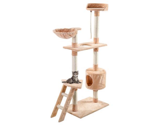 60   kitten pet tree house hammock condo scratcher furniture play toy cat tree 60   kitten pet tree house hammock condo scratcher furniture play      rh   flash newegg
