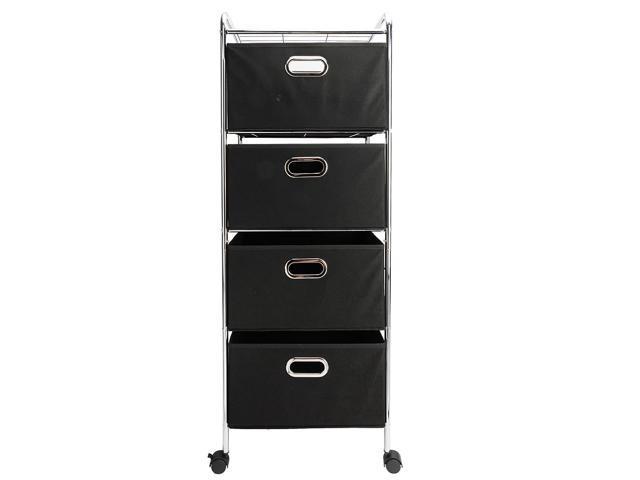 Perfect 4 Drawers Rolling Office Home Organizer Storage Cart Bins Drawers Rack 4  Wheels ...