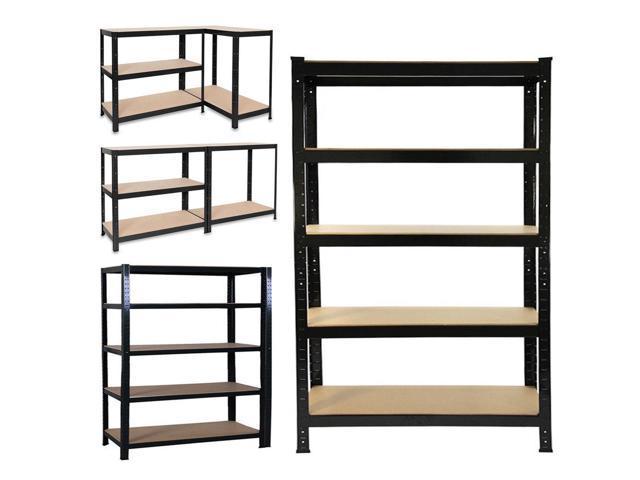5 tier shelving storage racks heavy duty steel warehouse shelves racking us - Heavy Duty Storage Shelves
