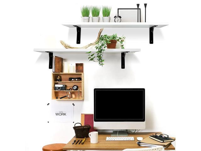 2 Display Ledge Shelf Floating Shelves Wall Mounted Modern Home
