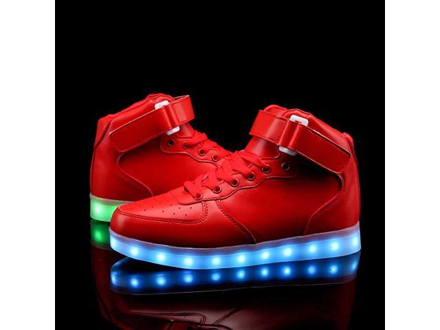 Flashys High Top Red LED Adult Shoes