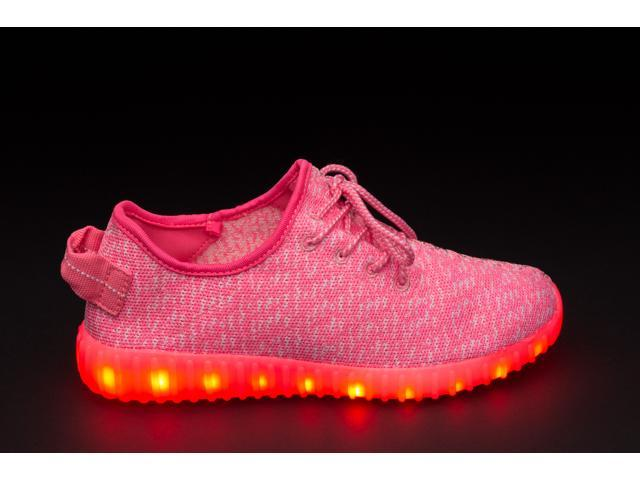 Flashys Pink Low Top  LED Adult Shoes