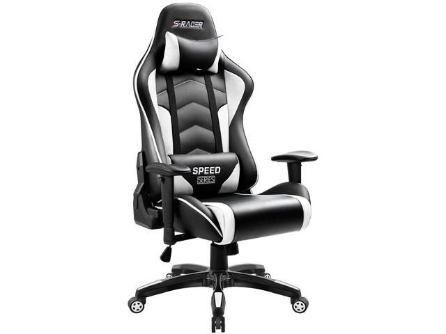 Homall Gaming Chair Thickened High Back And Bucket Seat Carbon PU Leather  Swivel Computer Chair ...