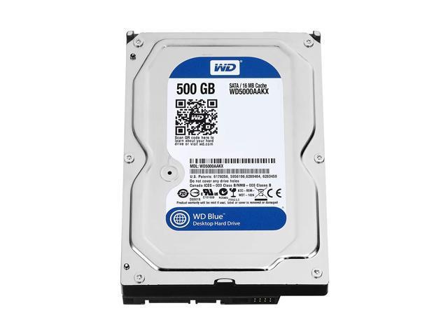 """Refurbished: WD Grade A WD5000AAKX 500GB 3.5"""" HDD SATA 6.0 Gb/s  7200RPM Desktop Internal Hard Drive - OEM"""