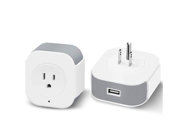 Muzili Wi-Fi smart Plug,Control your Devices from Anywhere,Energy Monitoring, No Hub Required,  Countdown Timer