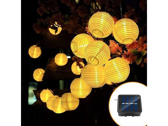 MUZILI Solar LED Lanterns String Lights, ALED Light 21.3Ft 6.5M 30 LED Waterproof Outdoor Decorative Stringed LED String Lights Lanterns for Party, Christmas, Garden, Patio, Halloween, Decoration