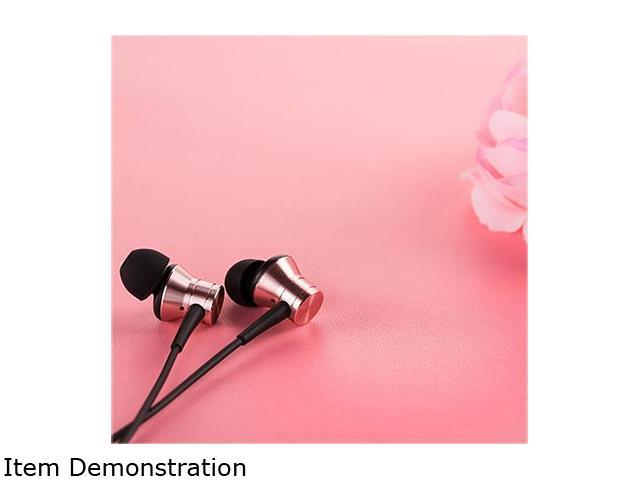 1MORE Piston Fit In-Ear Headphones (Earphones/Earbuds) with Apple iOS and Android Compatible Microphone and Remote (Rose Gold)