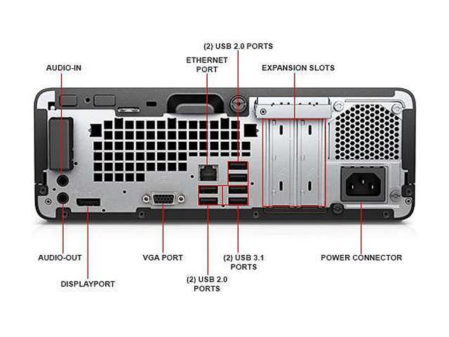 HP Desktop PC ProDesk 400 G4 (1GG07UT#ABA) Intel Core i5 7th Gen 7500 (3.40 GHz) 8 GB DDR4 256 GB SSD Intel HD Graphics 630 Windows 10 Pro 64-Bit