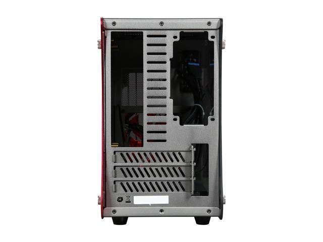 ENERMAX ECB2010R Red Aluminum / Tempered Glass Micro ATX / Mini-ITX Computer Case Standard SFX Type Power Supply