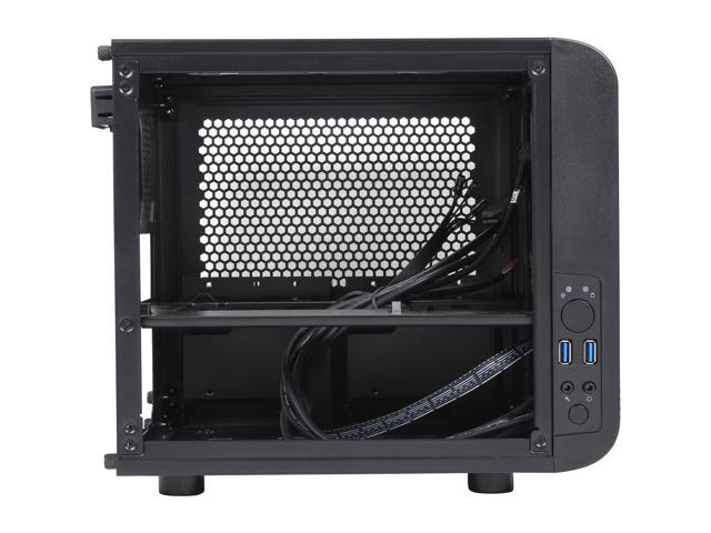 Thermaltake Core V1 Extreme Mini ITX Cube Chassis, Compatible with air and Liquid Cooling Builds (CA-1B8-00S1WN-00)