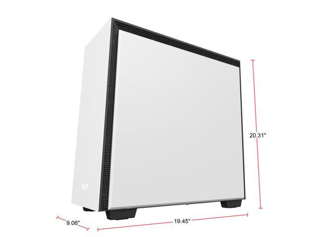 NZXT H700 - ATX Mid-Tower PC Gaming Case - Tempered Glass Panel - Enhanced Cable Management System - Water-Cooling Ready - White/Black