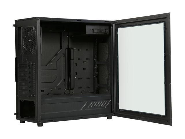 ALPHA Lite Alpha-SWB Black Steel / Plastic ATX Mid Tower Computer Case