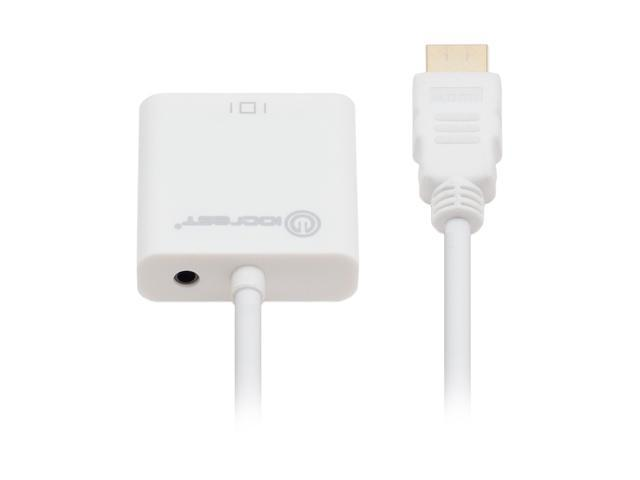 SYBA SY-ADA31044 IO Crest HDMI to VGA Adapter, with Audio Support