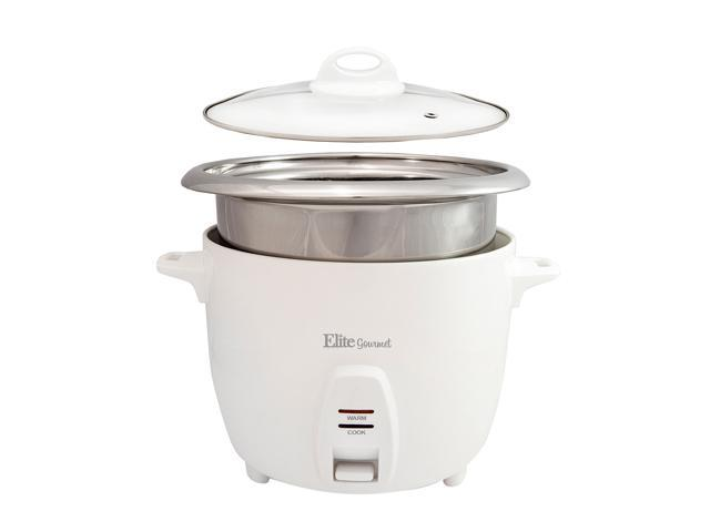 Elite - Gourmet 20-Cup Rice Cooker - White