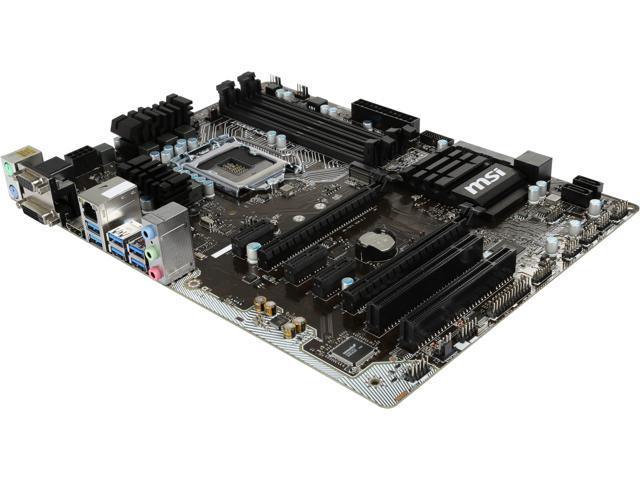 Refurbished: MSI Z170A PC MATE LGA 1151 Intel Z170 HDMI SATA 6Gb/s USB 3.1 ATX Motherboards - Intel