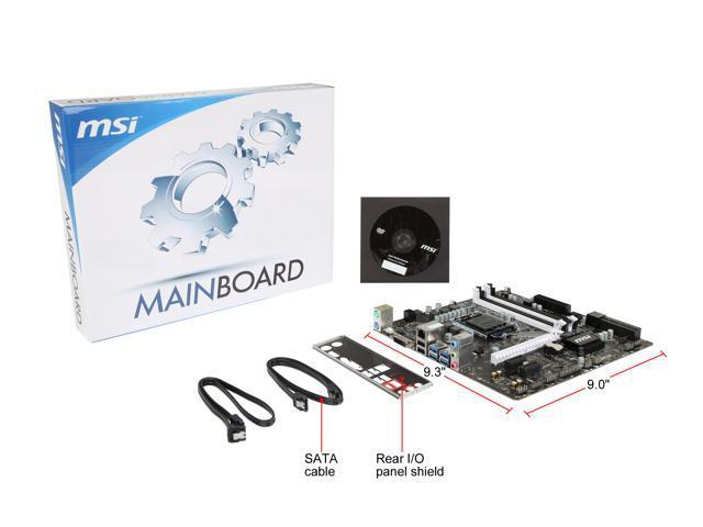 Refurbished: MSI B150M BAZOOKA LGA 1151 Intel B150 HDMI SATA 6Gb/s USB 3.1 Micro ATX Intel Motherboard