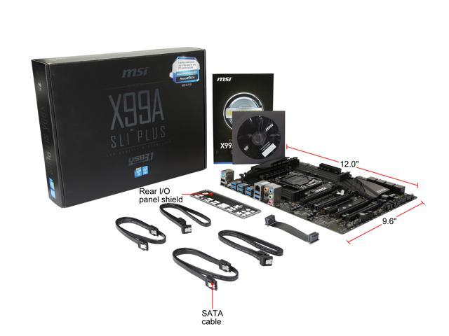 Refurbished: MSI X99A SLI PLUS LGA 2011-v3 Intel X99 SATA 6Gb/s USB 3.1 USB 3.0 ATX Intel Motherboard