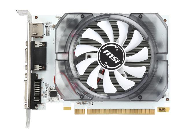 Refurbished: MSI GeForce GT 730 DirectX 12 N730-2GD3V3 2GB 128-Bit DDR3 PCI Express 2.0 x16 HDCP Ready ATX Video Card