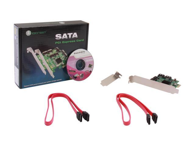 IOCrest SI-PEX40064 PCI-Express 2.0 Low Profile Ready SATA III (6.0 Gb/s) Controller Card