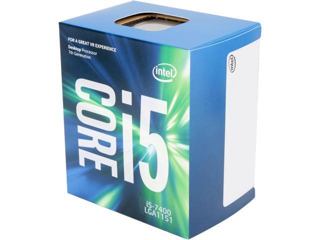 Intel Core i5-7400 Kaby Lake Quad-Core 3.0 GHz LGA 1151 65W BX80677I57400 Desktop Processor