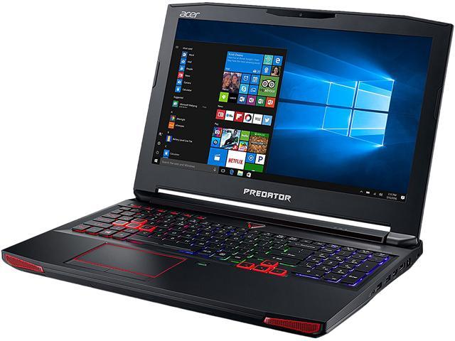"Refurbished: Acer Predator 15 G9-593-72VT 15.6"" Intel Core i7 6th Gen 6700HQ (2.60 GHz) NVIDIA GeForce GTX 1060 16 GB Memory 256 GB SSD 1 TB HDD Windows 10 Home 64-Bit Gaming Laptop (Manufacturer Recertified)"