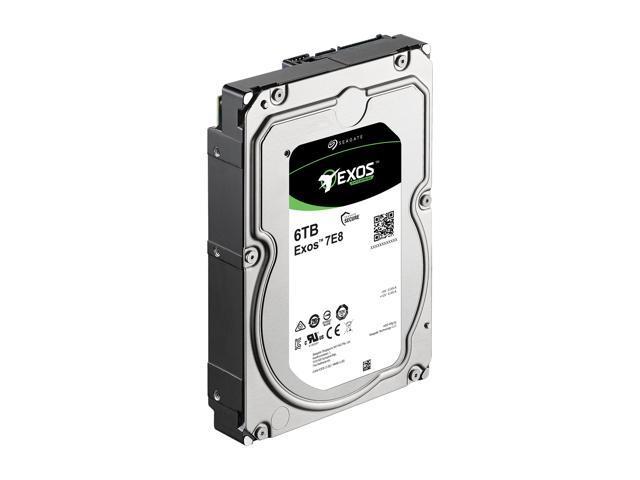 Seagate Exos Enterprise Capacity 3.5'' HDD 6TB 7200 RPM 512e SATA 6Gb/s 256MB Cache Internal Hard Drive ST6000NM0115