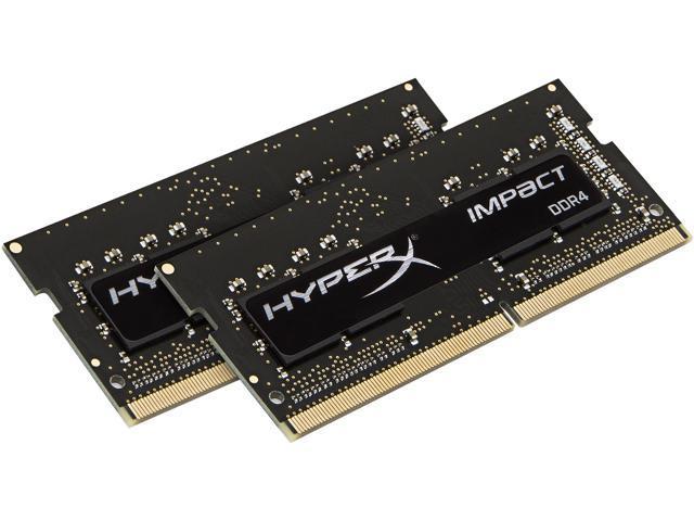 HyperX Impact 32GB (2 x 16GB) DDR4 2666 RAM (Notebook Memory) CL15 XMP SODIMM (260-Pin) HX426S15IB2K2/32