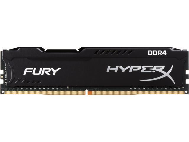 HyperX Fury 8GB (1 x 8GB) DDR4 2666MHz DRAM (Desktop Memory) CL16 1.2V Black DIMM (288-pin) HX426C16FB2/8 (Intel XMP, AMD Ryzen)