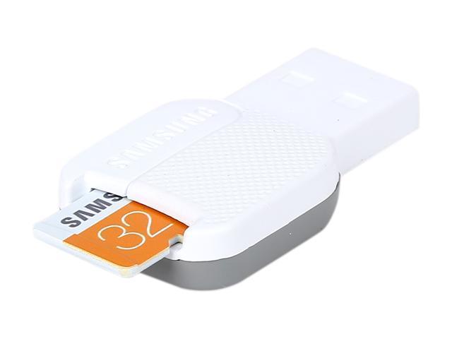 SAMSUNG EVO 32GB microSDHC Flash Card + USB2.0 Reader Model MB-MP32DC/AM