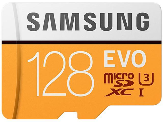 Samsung 128GB EVO microSDXC UHS-I/U3 Memory Card with Adapter, Speed Up to 100MB/s (MB-MP128GA/AM)