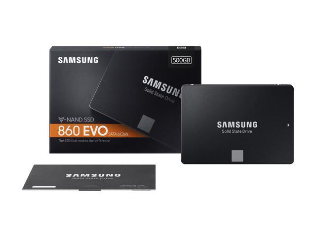 "SAMSUNG 860 EVO Series 2.5"" 500GB SATA III V-NAND 3-bit MLC Internal Solid State Drive (SSD) MZ-76E500B/AM"