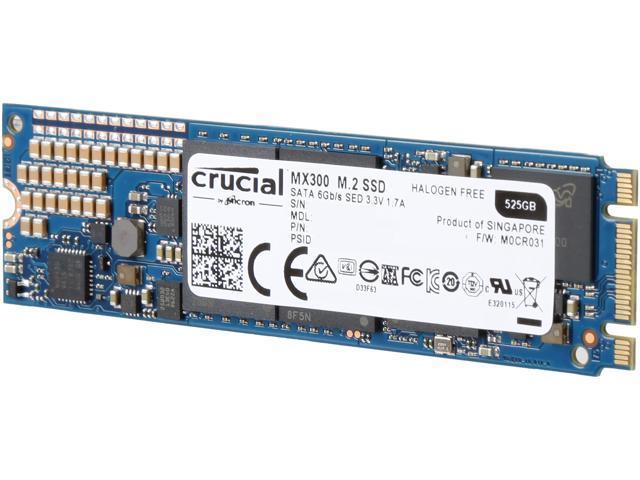Crucial MX300 M.2 2280 525GB SATA III 3D NAND Internal Solid State Drive (SSD) CT525MX300SSD4