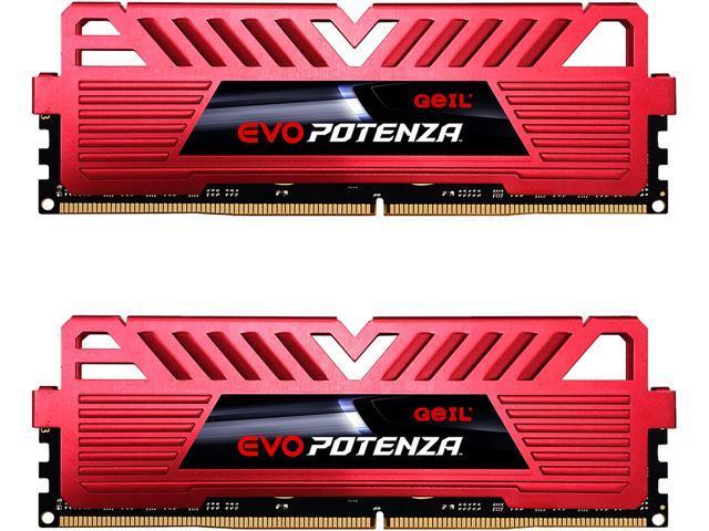GeIL EVO POTENZA 16GB (2 x 8GB) 288-Pin DDR4 SDRAM DDR4 3000 (PC4 24000) Desktop Memory Model GPR416GB3000C16ADC