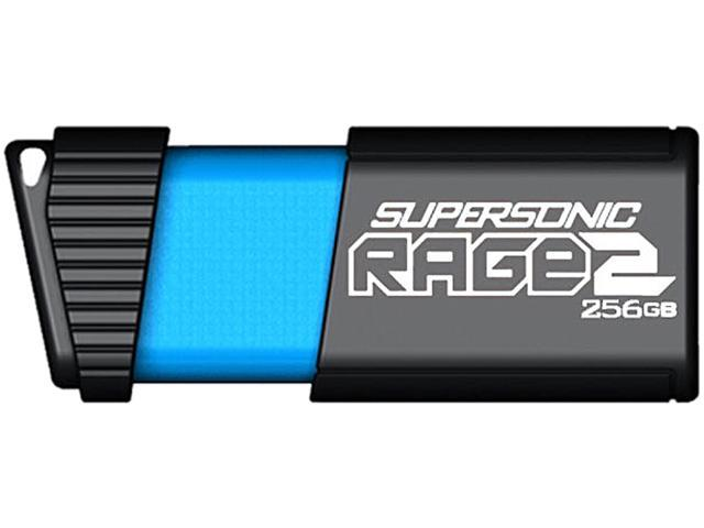 Patriot Memory 256GB Supersonic Rage 2 USB 3.1 Flash Drive, Up to 400MB/s Transfer Speed, Durable Rubber Housing (PEF256GSR2USB)