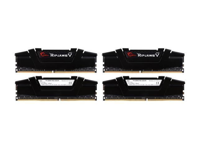G.SKILL Ripjaws V Series 64GB (4 x 16GB) 288-Pin DDR4 SDRAM DDR4 3200 (PC4 25600) Desktop Memory Model F4-3200C16Q-64GVK
