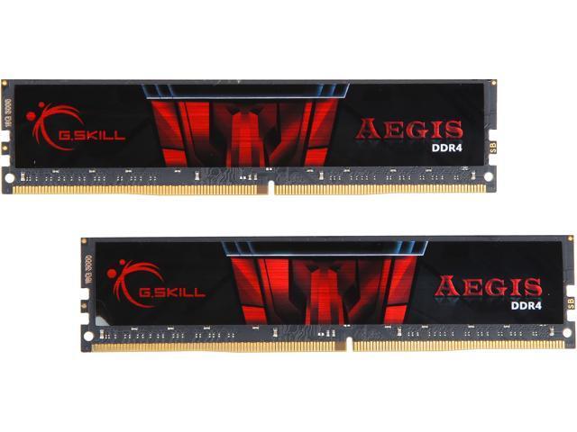 G.SKILL Aegis 32GB (2 x 16GB) 288-Pin DDR4 SDRAM DDR4 3000 (PC4 24000) Intel Z170 Platform Memory (Desktop Memory) Model F4-3000C16D-32GISB