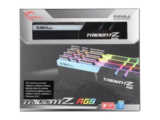 G.SKILL TridentZ RGB Series 32GB (4 x 8GB) 288-Pin DDR4 SDRAM DDR4 2400 (PC4 19200) Desktop Memory Model F4-2400C15Q-32GTZR
