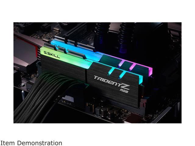 G.SKILL TridentZ RGB Series 16GB (2 x 8GB) 288-Pin DDR4 SDRAM DDR4 3000 (PC4 24000) Memory (Desktop Memory) Model F4-3000C16D-16GTZR