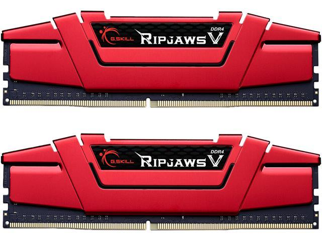 G.SKILL Ripjaws V Series 16GB (2 x 8GB) 288-Pin DDR4 SDRAM DDR4 2400 (PC4 19200) Intel X299 / Z270 / Z170 / X99 Platform Desktop Memory Model F4-2400C17D-16GVR