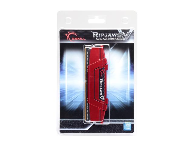 G.SKILL Ripjaws V Series 8GB 288-Pin DDR4 SDRAM DDR4 2400 (PC4 19200) Intel X299 / Z270 / Z170 / X99 Platform Desktop Memory Model F4-2400C17S-8GVR
