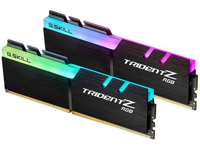 G.SKILL TridentZ RGB Series 32GB (2 x 16GB) 288-Pin DDR4 SDRAM DDR4 3000 (PC4 24000) Desktop Memory Model F4-3000C16D-32GTZR