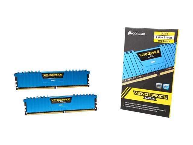 CORSAIR Vengeance LPX 16GB (2 x 8GB) 288-Pin DDR4 SDRAM DDR4 3000 (PC4 24000) Desktop Memory Model CMK16GX4M2B3000C15B