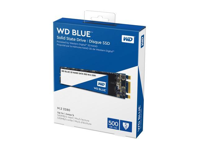 WD Blue 3D NAND 500GB PC SSD - SATA III 6 Gb/s M.2 2280 Solid State Drive - WDS500G2B0B