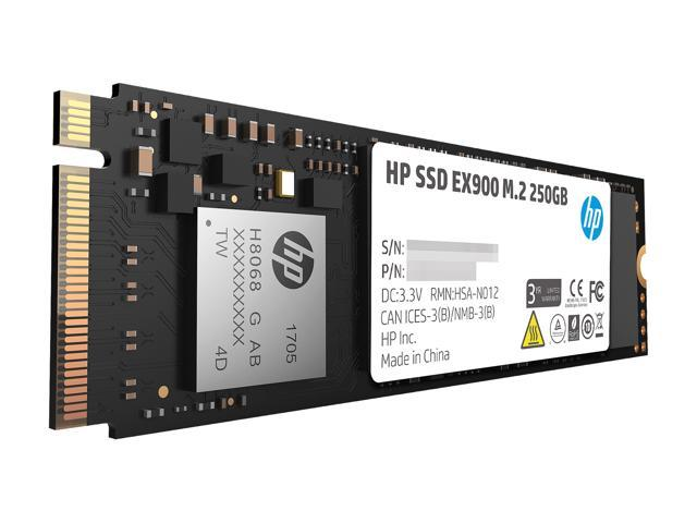 HP EX900 M.2 250GB PCIe 3.0 x4 NVMe 3D TLC NAND Internal Solid State Drive (SSD) 2YY43AA#ABC
