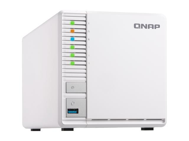 "Qnap 3 Bay TS-328-US Personal Cloud NAS, Ideal for RAID5 Storage. ARM Quad-core 1.4 GHz, 2GB DDR4 RAM, 2 x Gigabit LAN, 2.5"" / 3.5"" SATA HDD (Hot-swappable)"