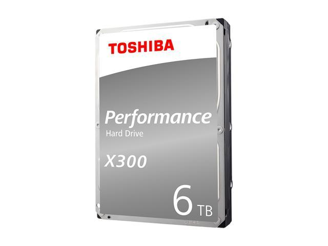Toshiba X300 6TB Performance Desktop and Gaming Hard Drive 7200 RPM 128MB Cache SATA 6.0Gb/s 3.5 Inch Internal Hard Drive Retail Packaging HDWE160XZSTA