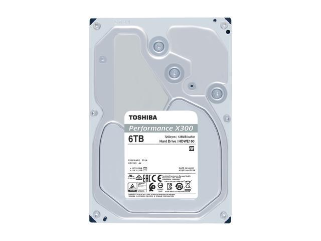 Toshiba X300 6TB Performance & Gaming Internal Hard Drive 7200 RPM SATA 6Gb/s 128MB Cache 3.5 inch - HDWE160XZSTA (RETAIL PACKAGE)