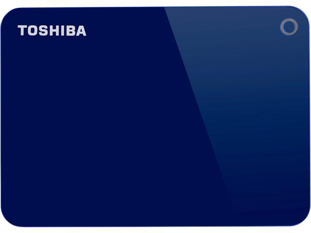 Toshiba Canvio Advance 1TB Portable External Hard Drive USB 3.0 Blue - HDTC910XL3AA