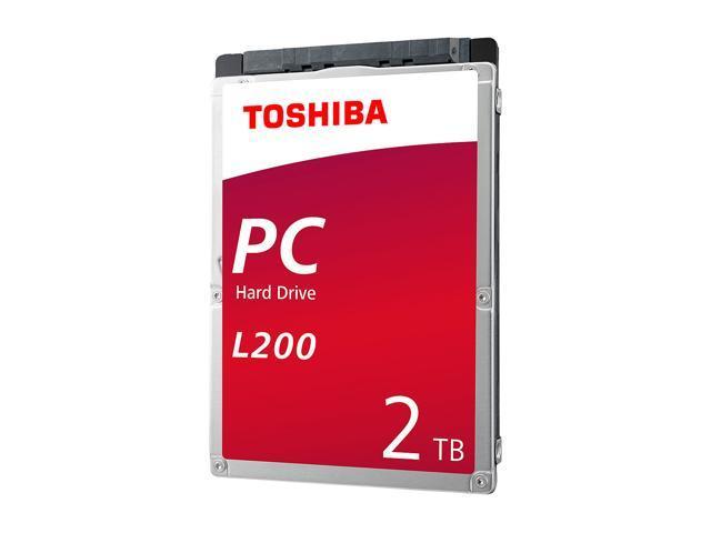 Toshiba L200 2TB Laptop PC Internal Hard Drive 5400 RPM SATA 6Gb/s 128MB Cache 2.5 inch 9.5mm Height - HDWL120XZSTA (RETAIL PACKAGE)