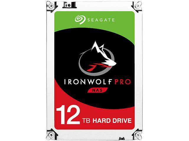 "Seagate IronWolf Pro ST12000NE0007 12TB 7200 RPM 256MB Cache SATA 6.0Gb/s 3.5"" Internal Hard Drive Bare Drive - OEM"